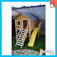 Деревянный детский домик TokarMebel «2 этаж»