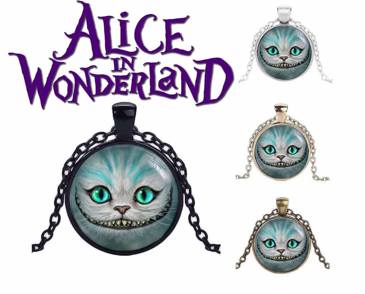 Кулон Чеширский кот Алиса в стране чудес / Alice in Wonderland