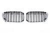 Решетки радиатора ноздри BMW F20 F21 рестайл (15-18) в стиле M1 (хром рамка), фото 2