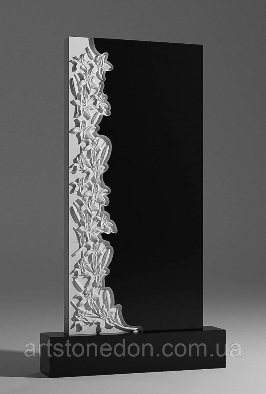 Памятник гранитный с лилиями №224