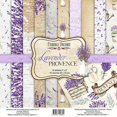 """Набор скрапбумаги """"lavender provence"""" 20x20см"""