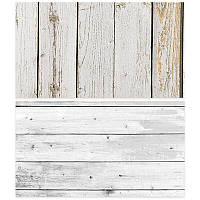 Студийный фон для фото, текстурный фотофон (двусторнонний) 57×87 см Дерево 8