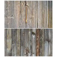 Студийный фон для фото, текстурный фотофон (двусторнонний) 57×87 см Дерево 12
