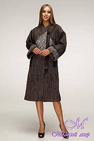 Женское шерстяное пальто больших размеров (р. 44-54) арт. 1171 Тон 107