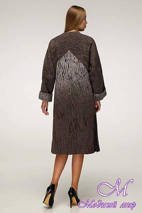 Женское шерстяное пальто больших размеров (р. 44-54) арт. 1171 Тон 107, фото 2