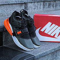 """Кроссовки Nike Air Force 270 """"Черные\Хаки\Оранжевые"""", фото 2"""