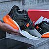 """Кроссовки Nike Air Force 270 """"Черные\Хаки\Оранжевые"""", фото 4"""