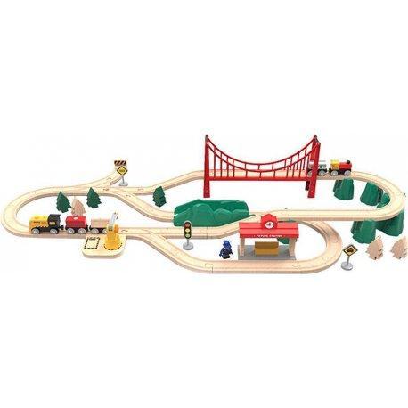 Деревянная железная дорога Xiaomi Mi Toy Train Set