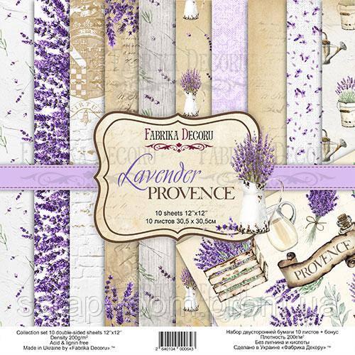 """Набор скрапбумаги """"lavender provence"""" 30,5x30,5см"""