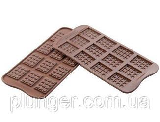 Форма силіконова для шоколаду Плитки міні