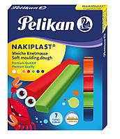Пластилин Pelikan Nakiplast 125г 7 цветов  (622712)