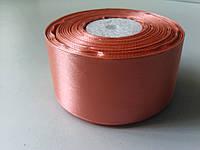 Лента атласная персиковая 50 мм 1 метр
