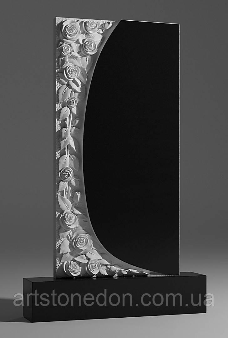 Памятник гранитный с розами №228