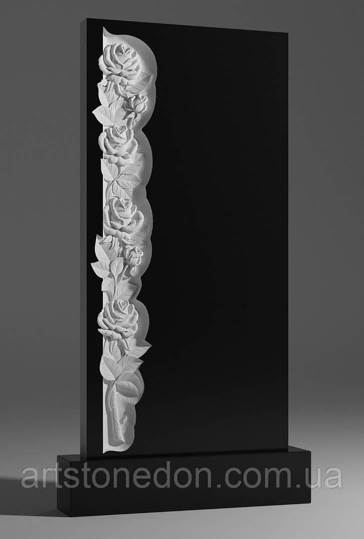 Памятник гранитный с розами №230