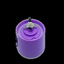Блендер Smart Juice Cup Fruits USB Фиолетовый 4 ножа, фото 2