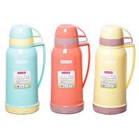 Большой питьевой термос 1800 мл Kamille KM-2075 пластиковый со стеклянной колбой