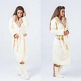 Женский набор: теплый махровый длинный халат и сапожки (турецкая махра) + большие размеры, фото 3