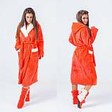 Женский набор: теплый махровый длинный халат и сапожки (турецкая махра) + большие размеры, фото 5