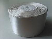 Лента атласная молочная 50 мм 1 метр