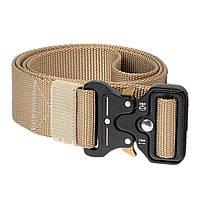 Тактический нейлоновый ремень Tactical Belt 145 см / Армейский ремень Песочный