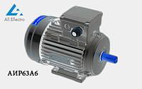 Электродвигатель АИР63А6 0,18 кВт 1000 об/мин, 380/660В
