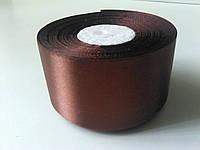 Лента атласная шоколад 50 мм бобина 23 м