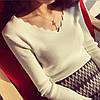 Женский свитер с V-образным вырезом 42-44 (в расцветках), фото 7