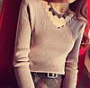 Женский свитер с V-образным вырезом 42-44 (в расцветках), фото 6