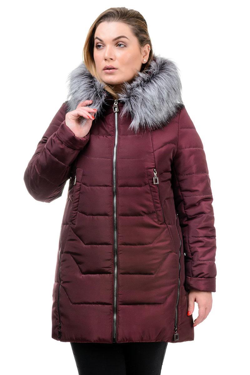Женская теплая куртка Ника бордо