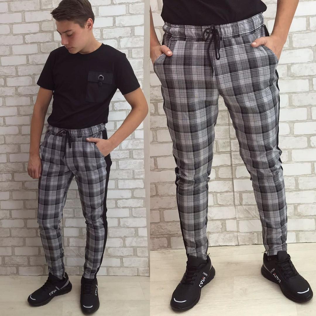 Стильные мужские спортивные штаны в клетку. Отличное каество! 52р.