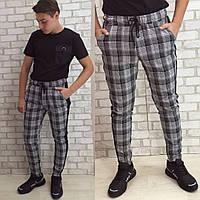 Стильные мужские спортивные штаны в клетку. Отличное каество! 52р., фото 1