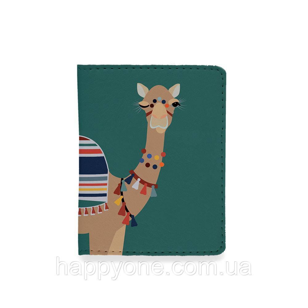 Обложка на ID паспорт или права - Верблюд