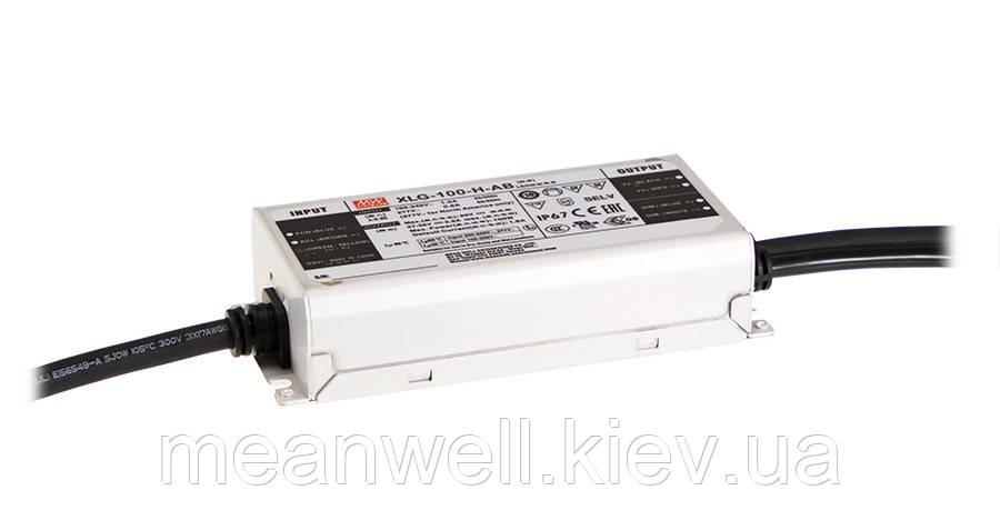 XLG-100-L-AB Блок питания Mean Well 100Вт, 700-1050mA, 71-142V драйвер питания светодиодов LED IP67