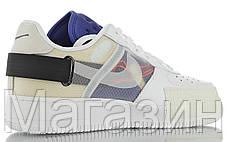 Мужские кроссовки Nike Air Force 1 Type N.354 Summit White CI0054-100 Найк Аир Форс белые, фото 3