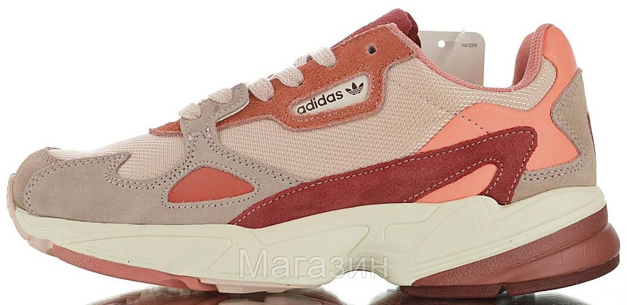 Женские кроссовки adidas Falcon Pink/Burgundy Адидас Фалкон розовые с бордовым