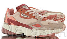 Женские кроссовки adidas Falcon Pink/Burgundy Адидас Фалкон розовые с бордовым, фото 3