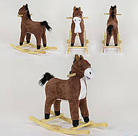 Качалка-лошадка, со световыми и звуковыми эффектами