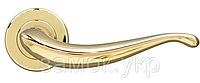 Дверная ручка с накладкой под цилиндр MARIANI GOCCIA латунь полированная