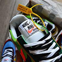 """Кроссовки Nike LD Waffle Sacai """"Зеленые\Желтые\Оранжевые"""", фото 3"""