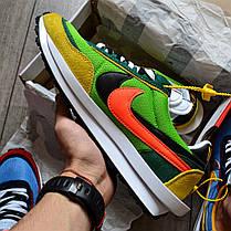 """Кроссовки Nike LD Waffle Sacai """"Зеленые\Желтые\Оранжевые"""", фото 2"""