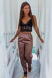 Женская домашняя пижама, топ+штанишки, фото 4