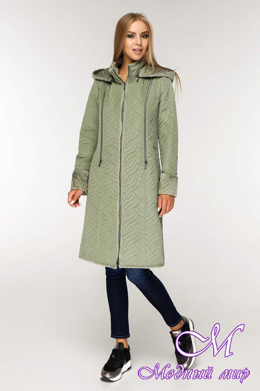 Женская длинная демисезонная куртка (р. 44-58) арт. 890 Тон 5-1