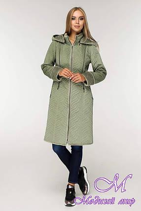Женская длинная демисезонная куртка (р. 44-58) арт. 890 Тон 5-1, фото 2