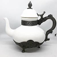 Заварник для чая декоративный MCA Vizyon из мельхиора посеребренный, фото 1