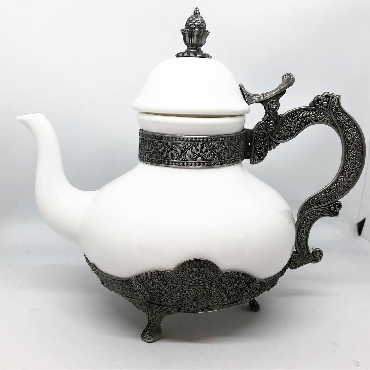 Заварник для чая декоративный MCA Vizyon из мельхиора посеребренный