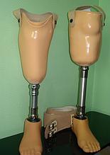Протез голени с креплением на кожаный пояс