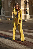Женский стильный пиджак из креп - костюмки