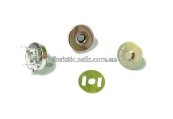 Застежка/кнопка - магнит 1,8 см, серебро