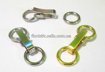Застежка - кольца 2 см, серебро