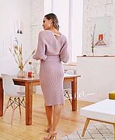 Женский трикотажный костюм в цветах.   Размер 42-46